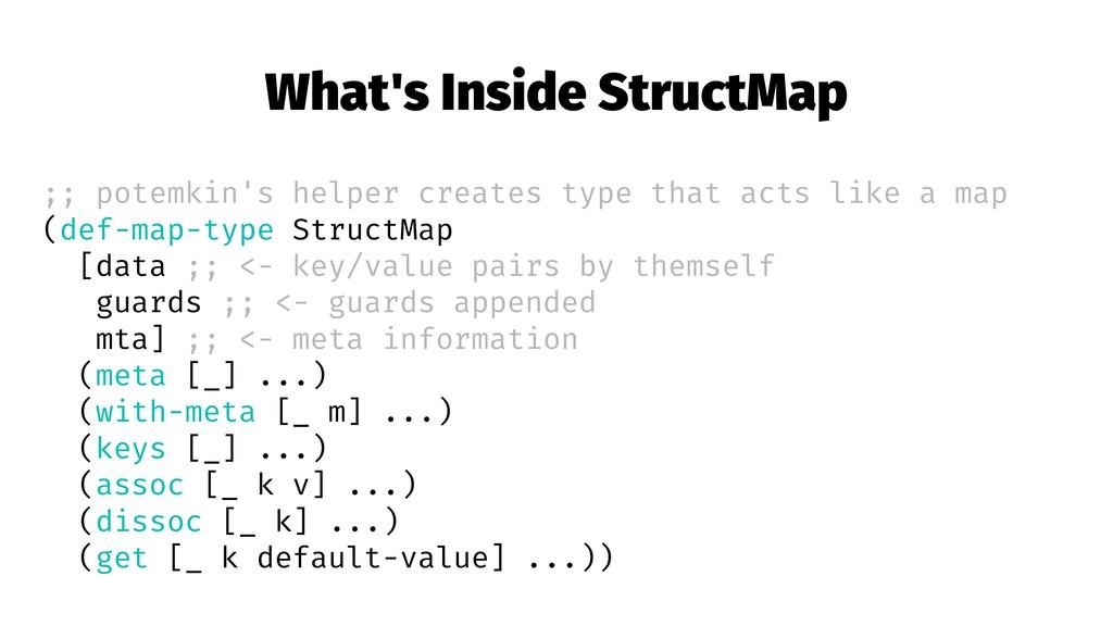 What's Inside StructMap ;; potemkin's helper cr...