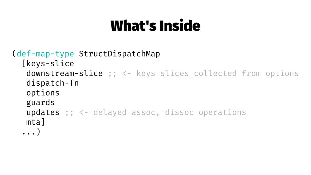 What's Inside (def-map-type StructDispatchMap [...