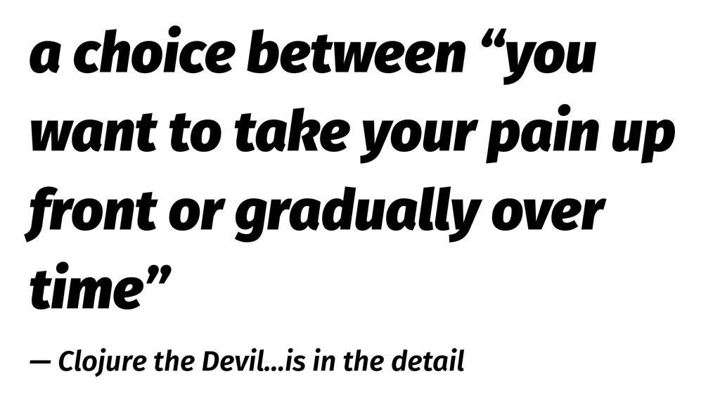 """a choice between """"you want to take your pain up..."""