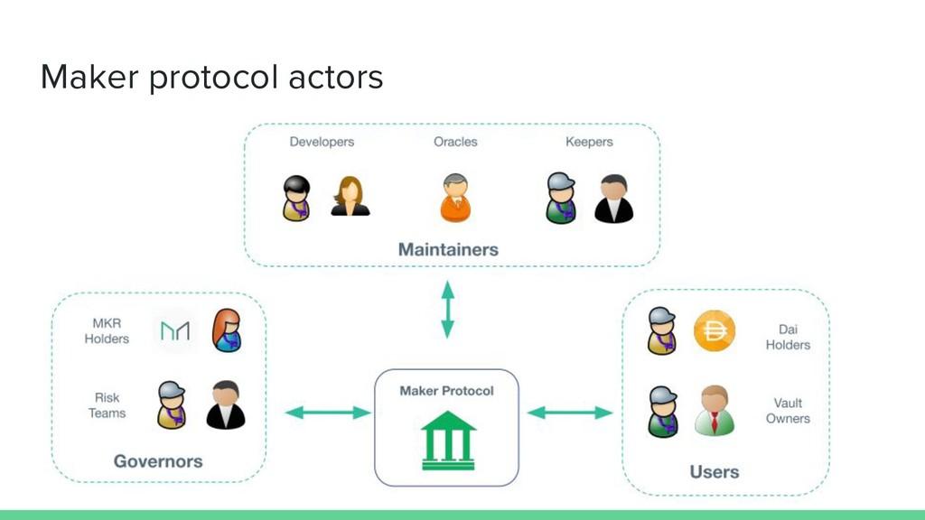 Maker protocol actors