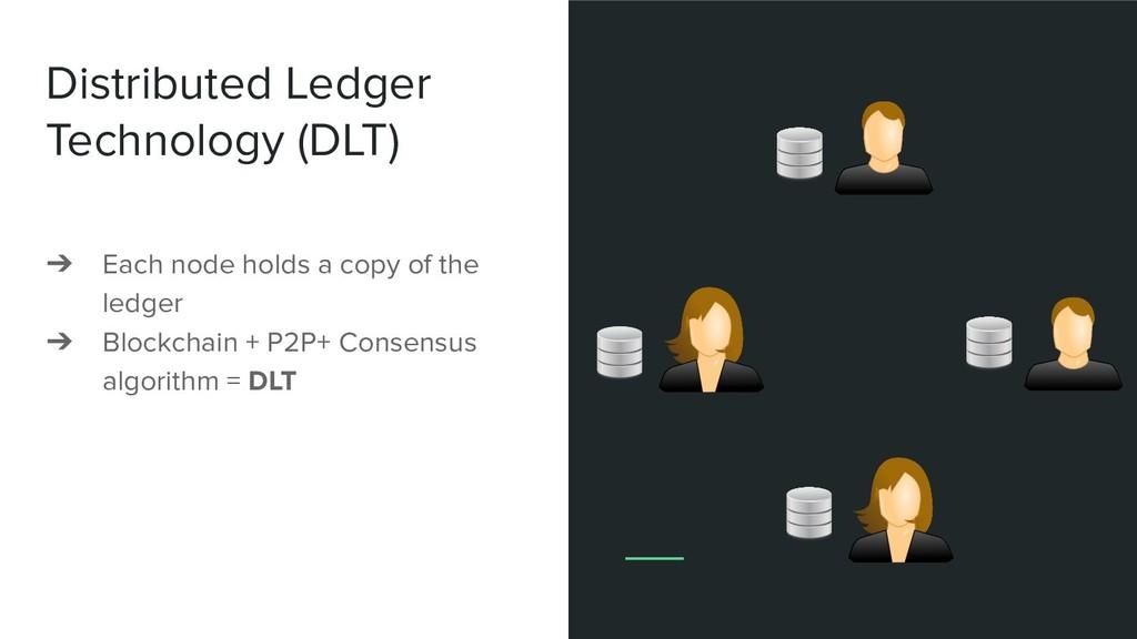 Distributed Ledger Technology (DLT) ➔ Each node...