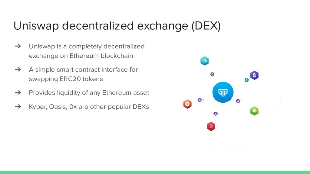 Uniswap decentralized exchange (DEX) ➔ Uniswap ...