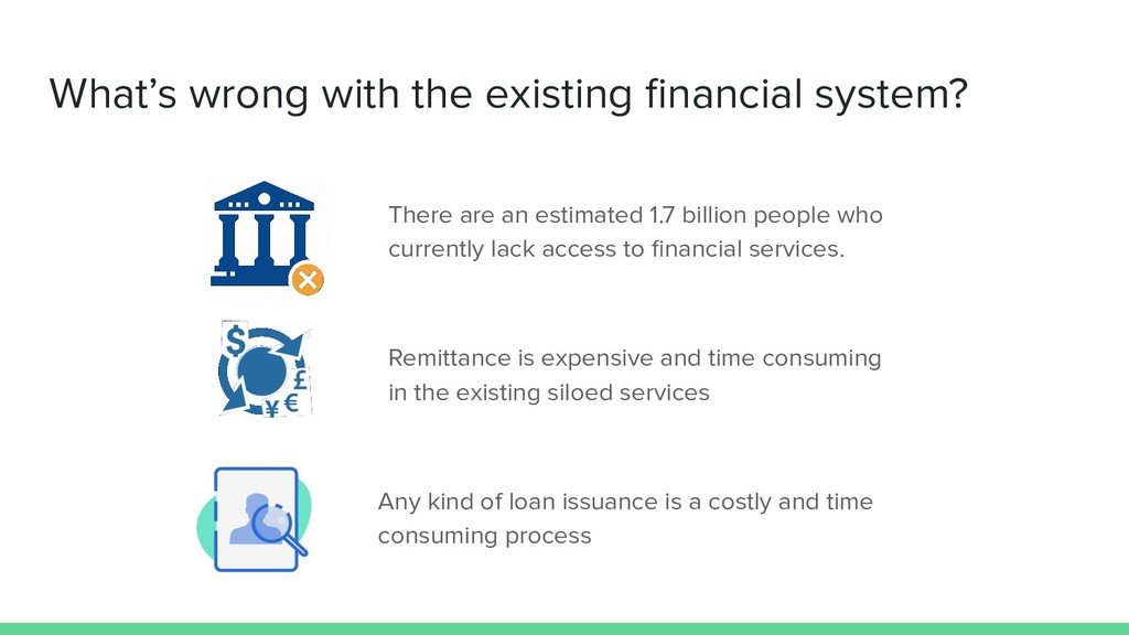 What's wrong with the existing financial system?...