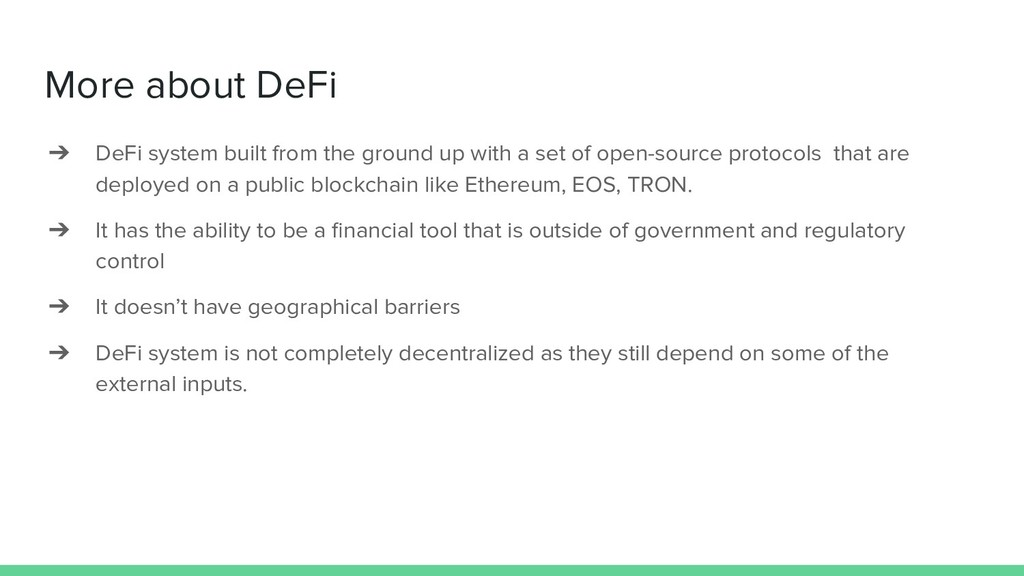 More about DeFi ➔ DeFi system built from the gr...