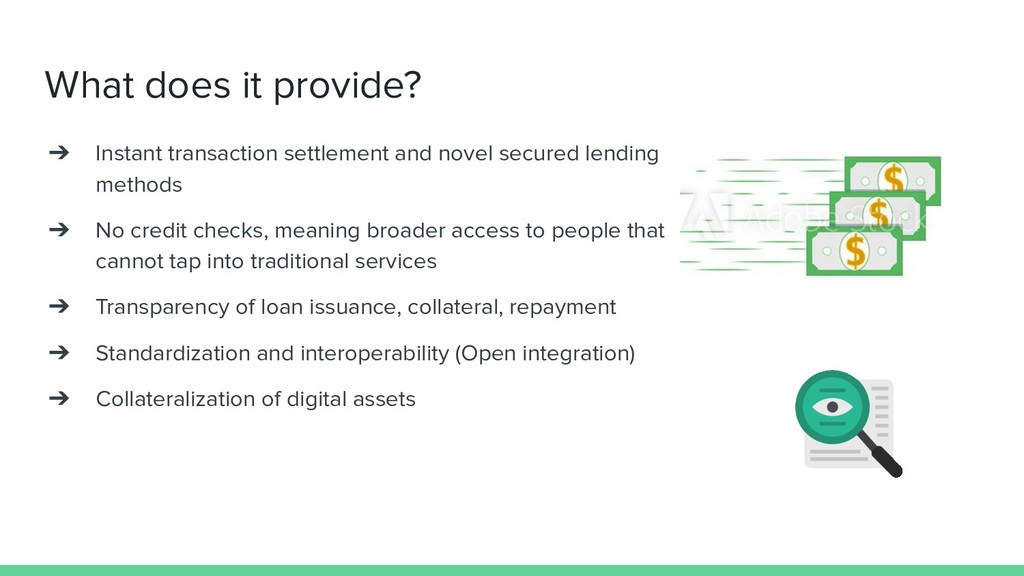 What does it provide? ➔ Instant transaction set...