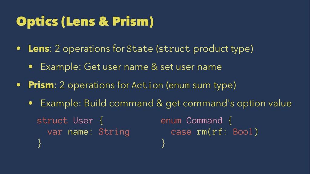 Optics (Lens & Prism) • Lens: 2 operations for ...