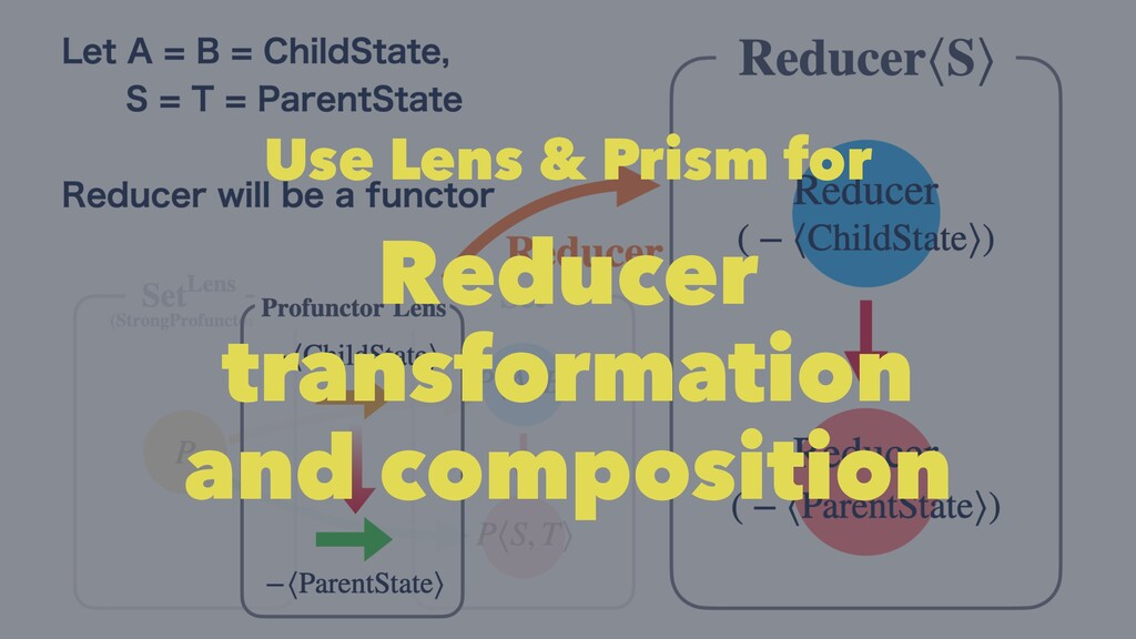 Use Lens & Prism for Reducer transformation and...