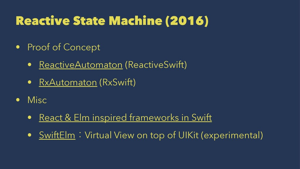 Reactive State Machine (2016) • Proof of Concep...