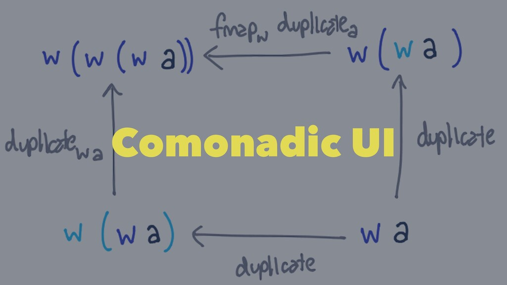 Comonadic UI