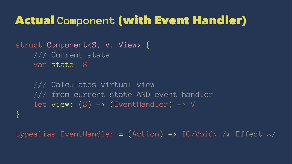 Actual Component (with Event Handler) struct Co...