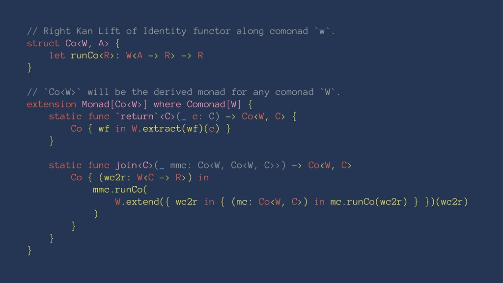 // Right Kan Lift of Identity functor along com...