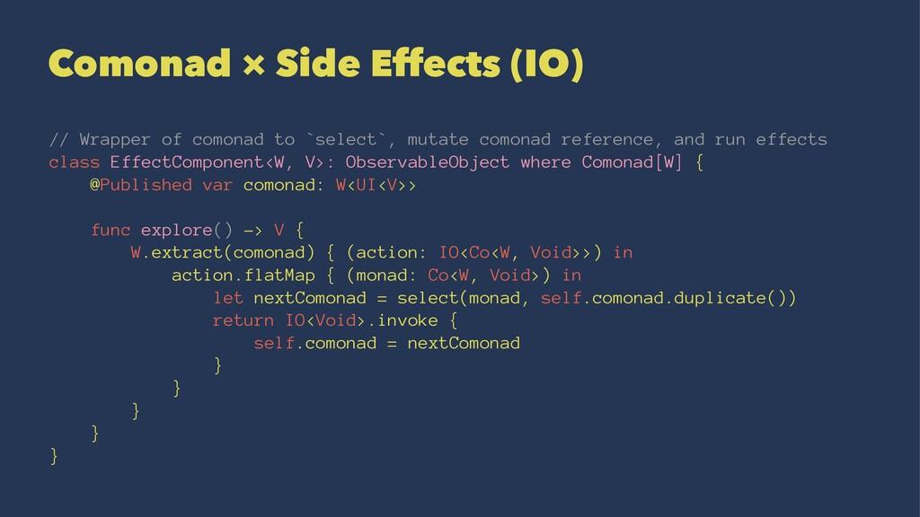 Comonad × Side Effects (IO) // Wrapper of comon...