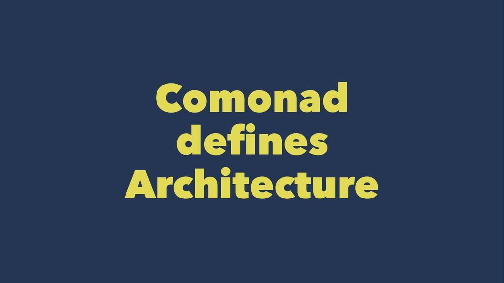 Comonad defines Architecture