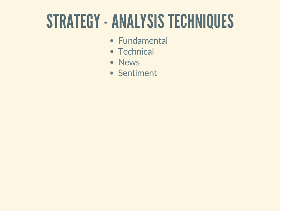 STRATEGY - ANALYSIS TECHNIQUES Fundamental Tech...