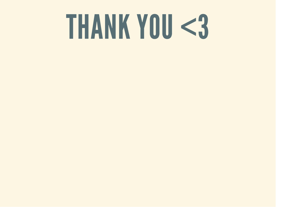 THANK YOU <3
