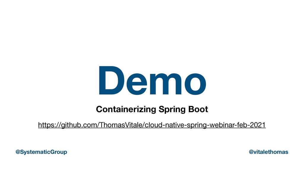 Demo Containerizing Spring Boot https://github....