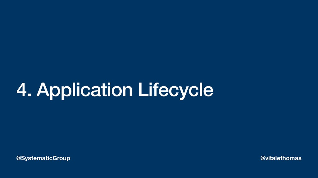 4. Application Lifecycle @SystematicGroup @vita...