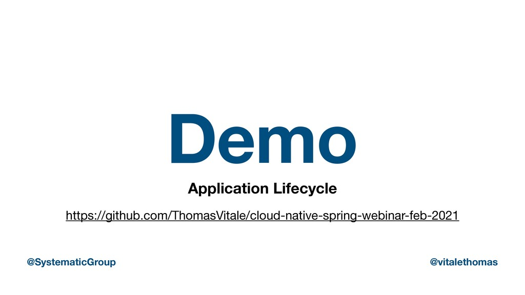 Demo Application Lifecycle https://github.com/T...