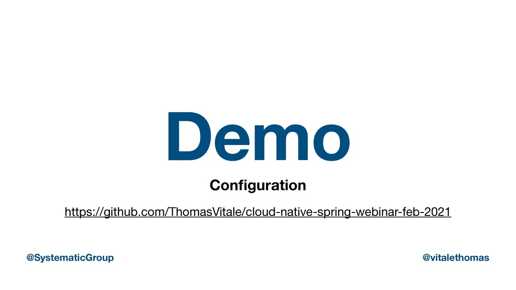 Demo Con fi guration https://github.com/ThomasV...