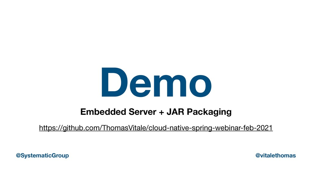 Demo Embedded Server + JAR Packaging https://gi...