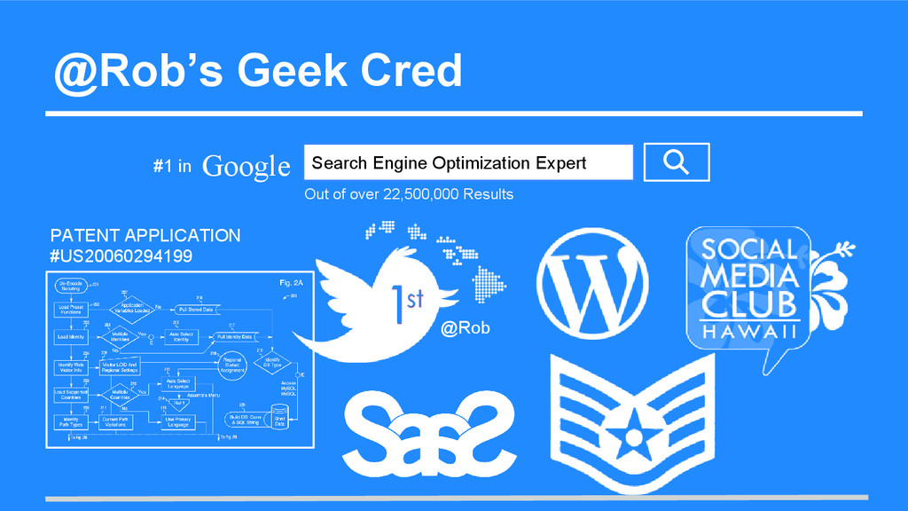 @Rob's Geek Cred Google Search Engine Optimizat...