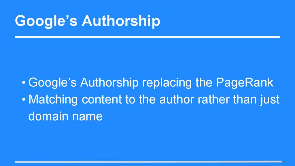 Google's Authorship • Google's Authorship repla...