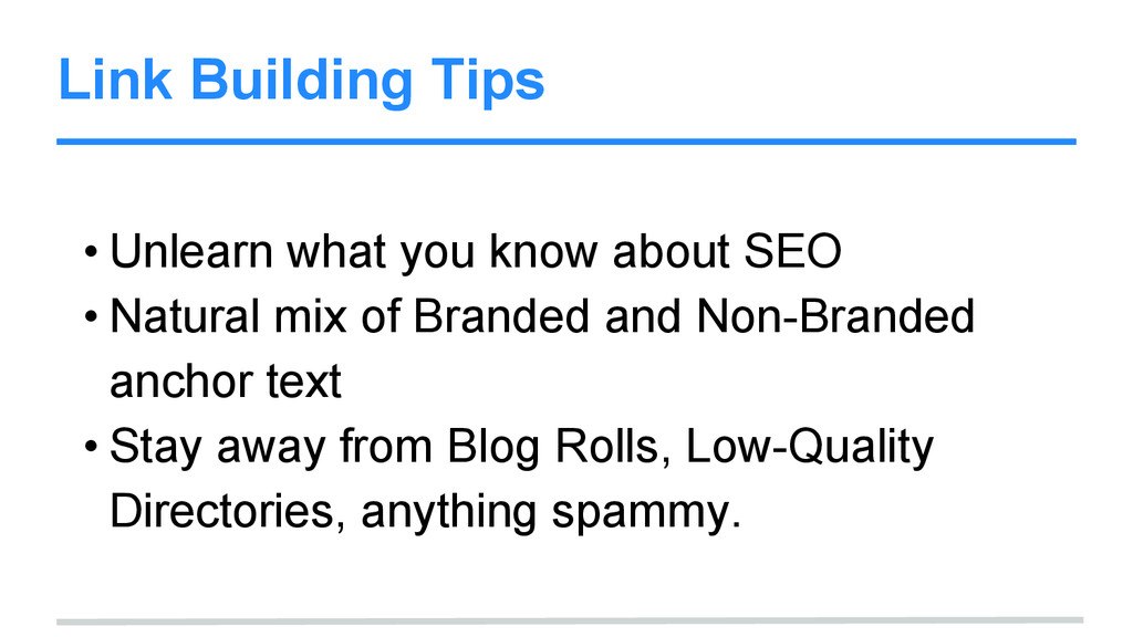 Link Building Tips • Unlearn what you know abou...