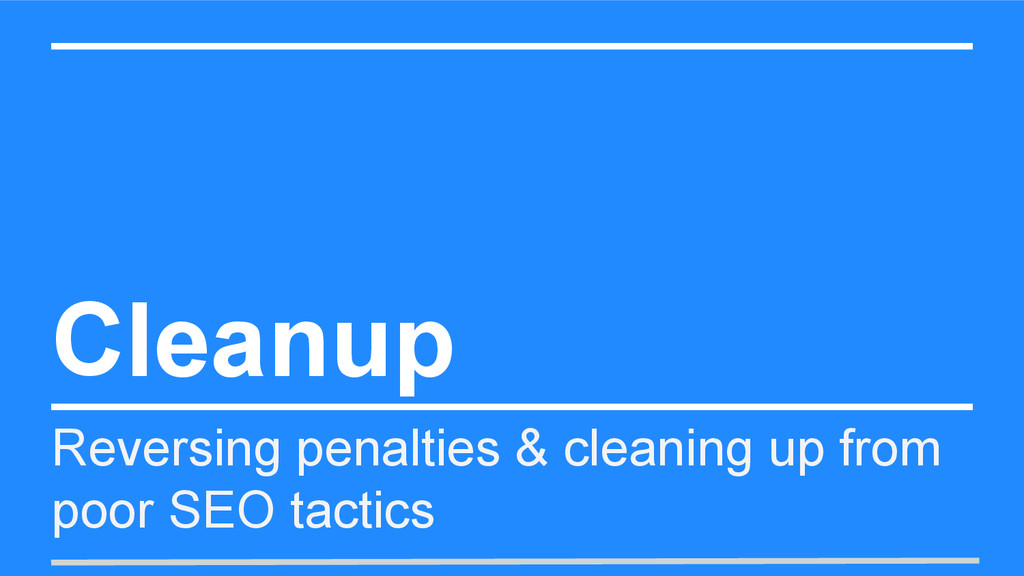 Cleanup Reversing penalties & cleaning up from ...