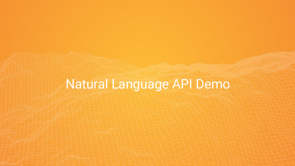 9 9 Natural Language API Demo