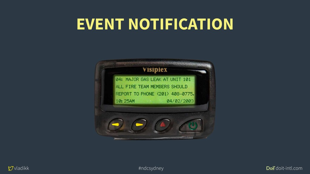 vladikk doit-intl.com #ndcsydney EVENT NOTIFICA...