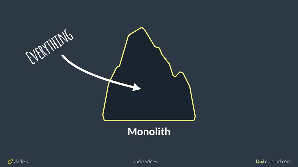 vladikk doit-intl.com #ndcsydney Monolith Every...