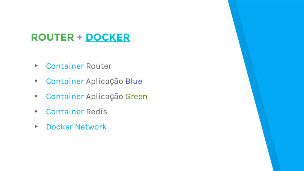 ROUTER + DOCKER ▸ Container Router ▸ Container ...