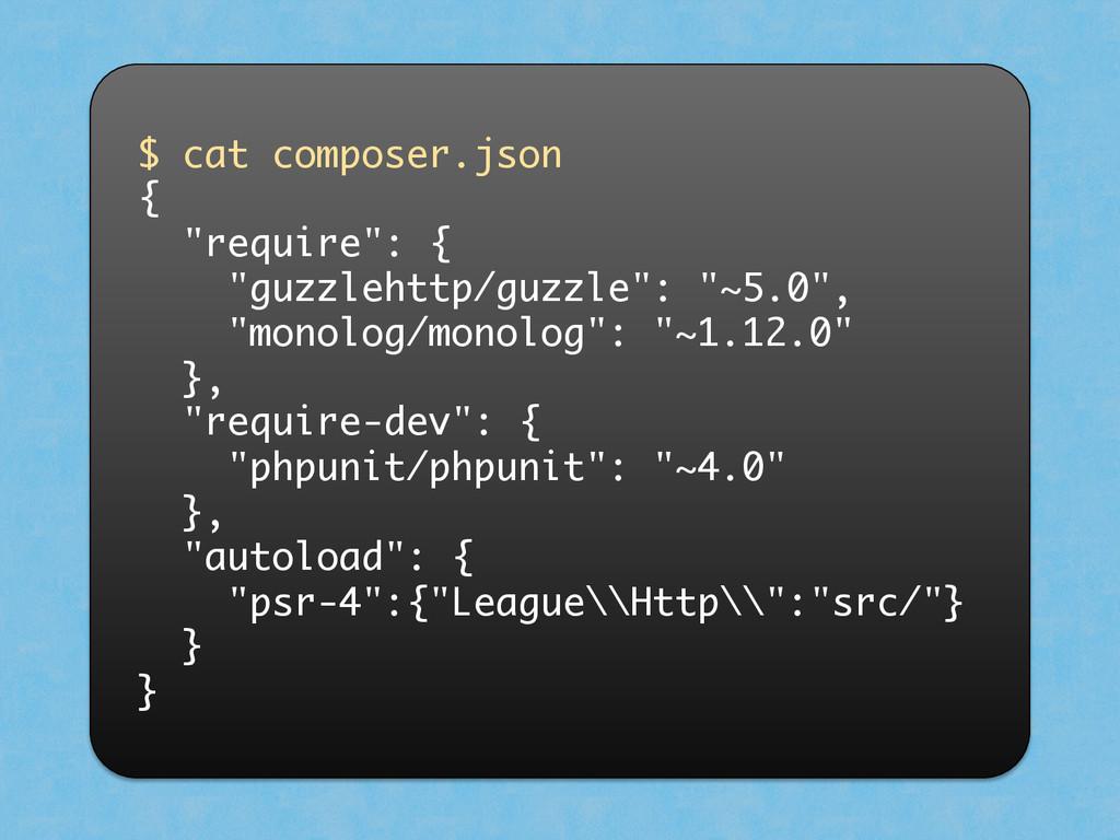 "$ cat composer.json { ""require"": { ""guzzlehttp/..."