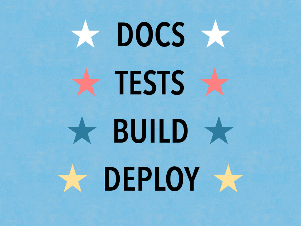 ★ DOCS ★ ★ TESTS ★ ★ BUILD ★ ★ DEPLOY ★