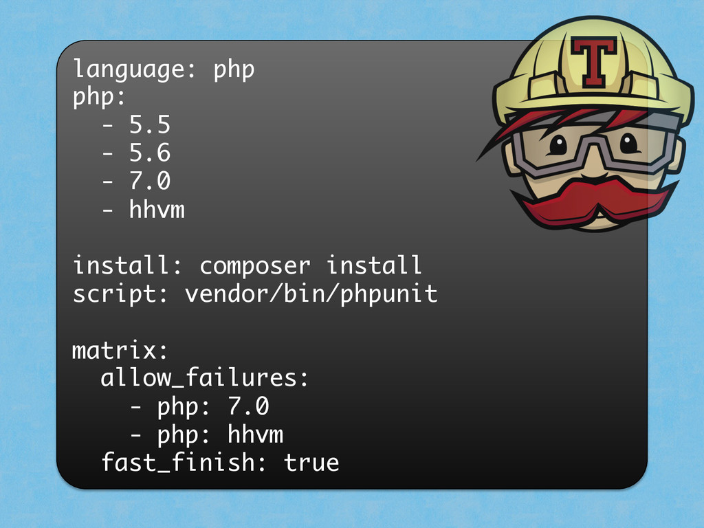 language: php php: - 5.5 - 5.6 - 7.0 - hhvm ins...