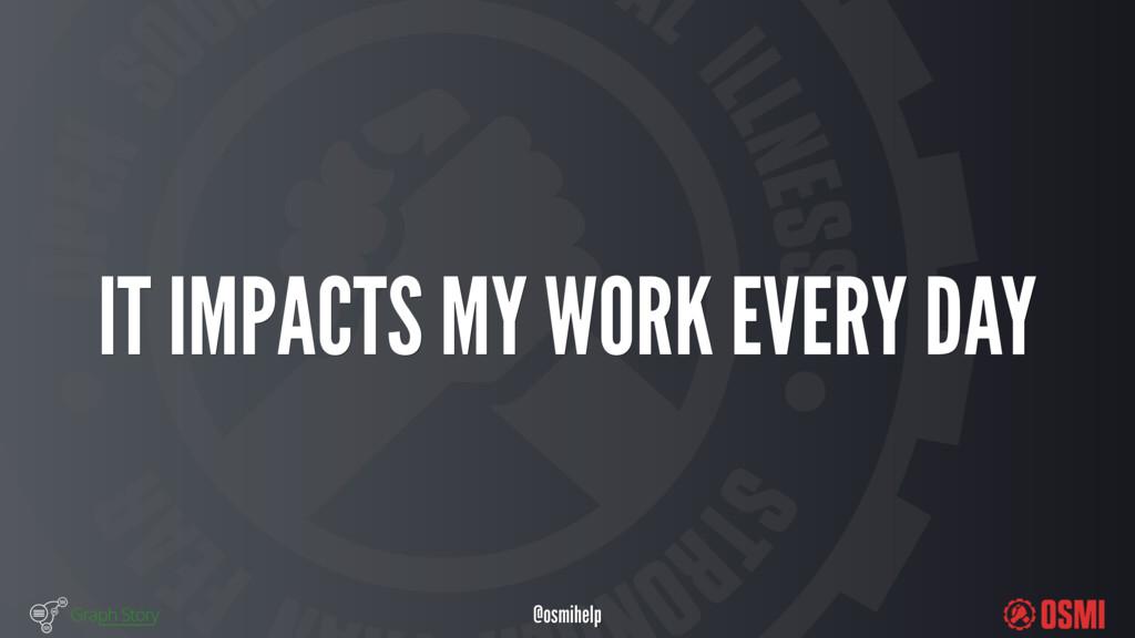 @osmihelp IT IMPACTS MY WORK EVERY DAY