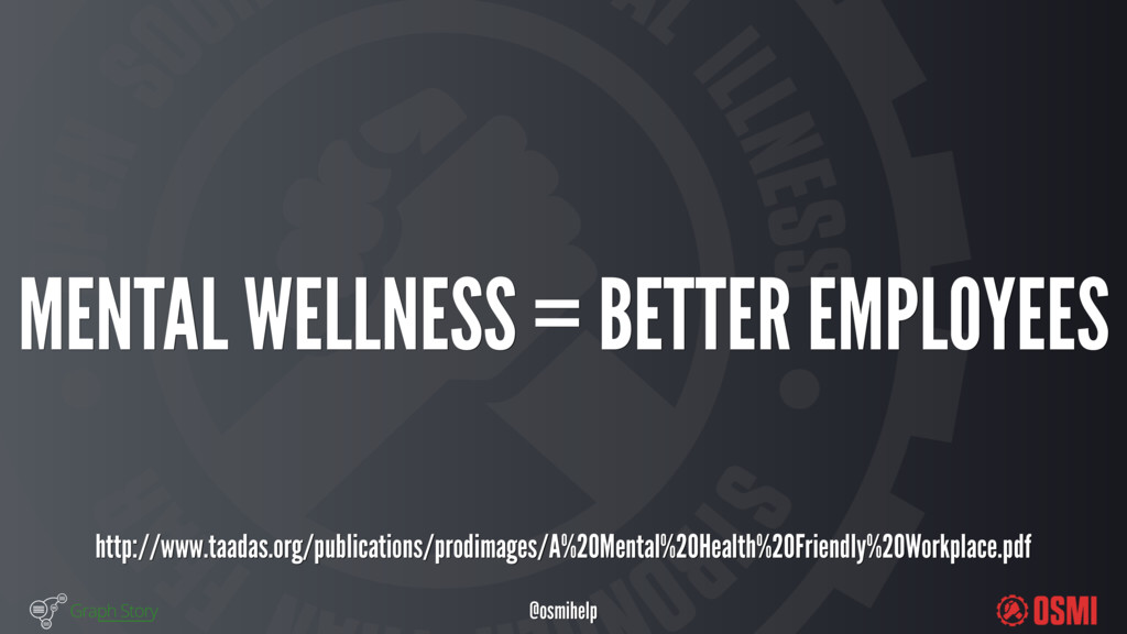 @osmihelp MENTAL WELLNESS = BETTER EMPLOYEES...