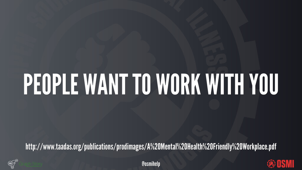 @osmihelp PEOPLE WANT TO WORK WITH YOU http:...