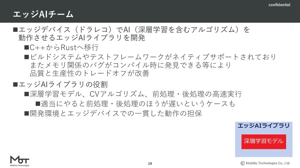confidential Mobility Technologies Co., Ltd. nエ...