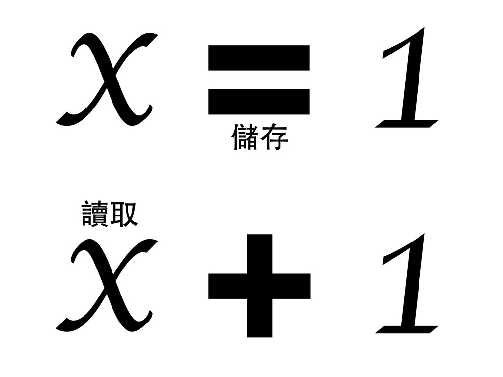 = x 1 + x 1 儲存 讀取