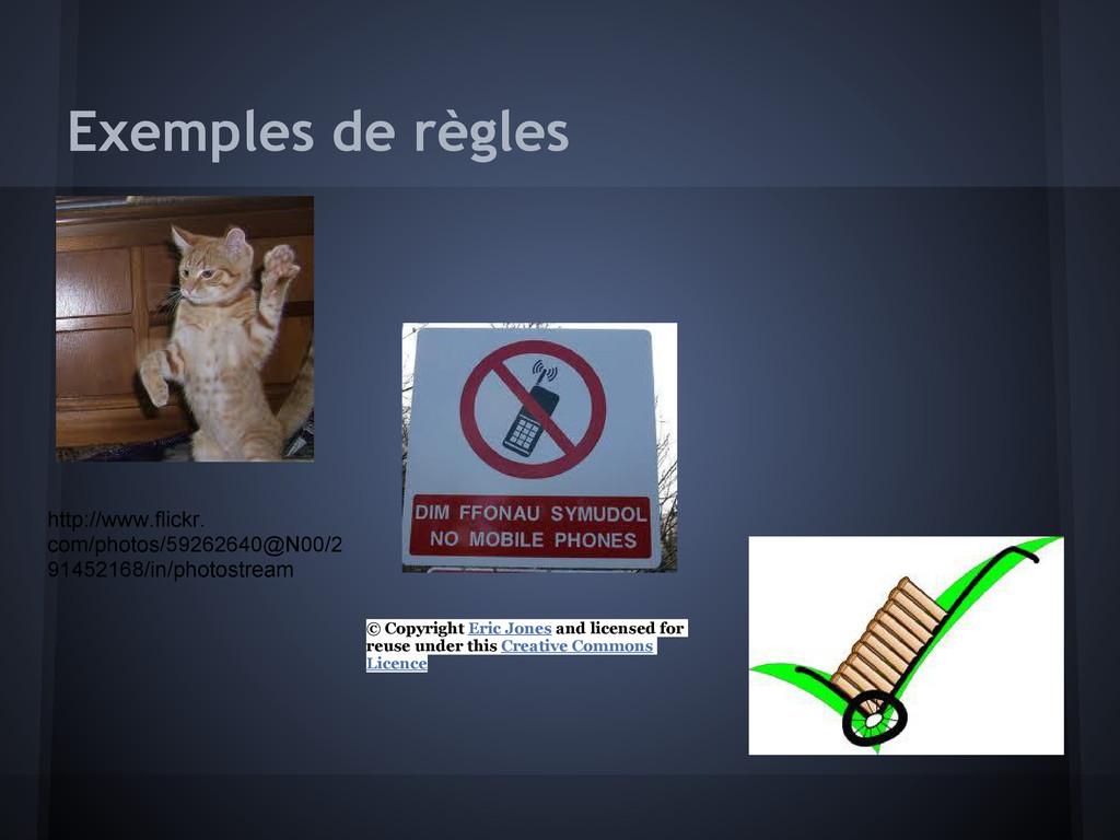 Exemples de règles http://www.flickr. com/photo...