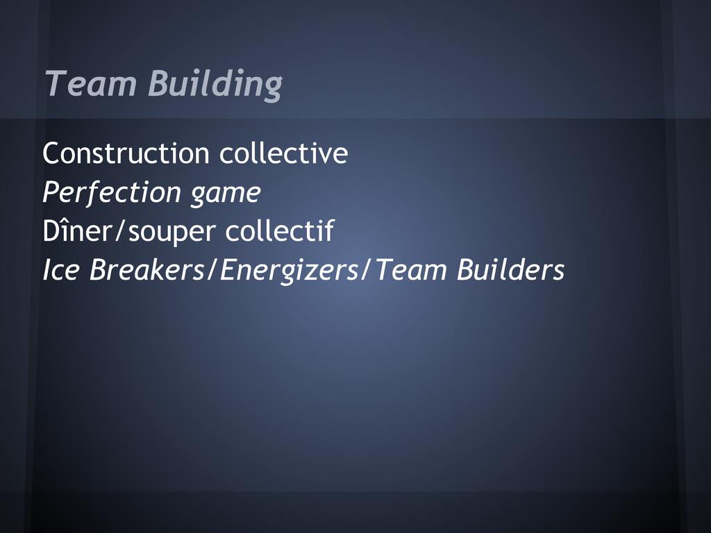 Team Building Construction collective Perfectio...