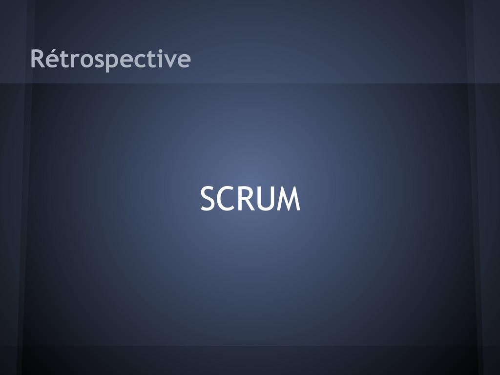 Rétrospective SCRUM