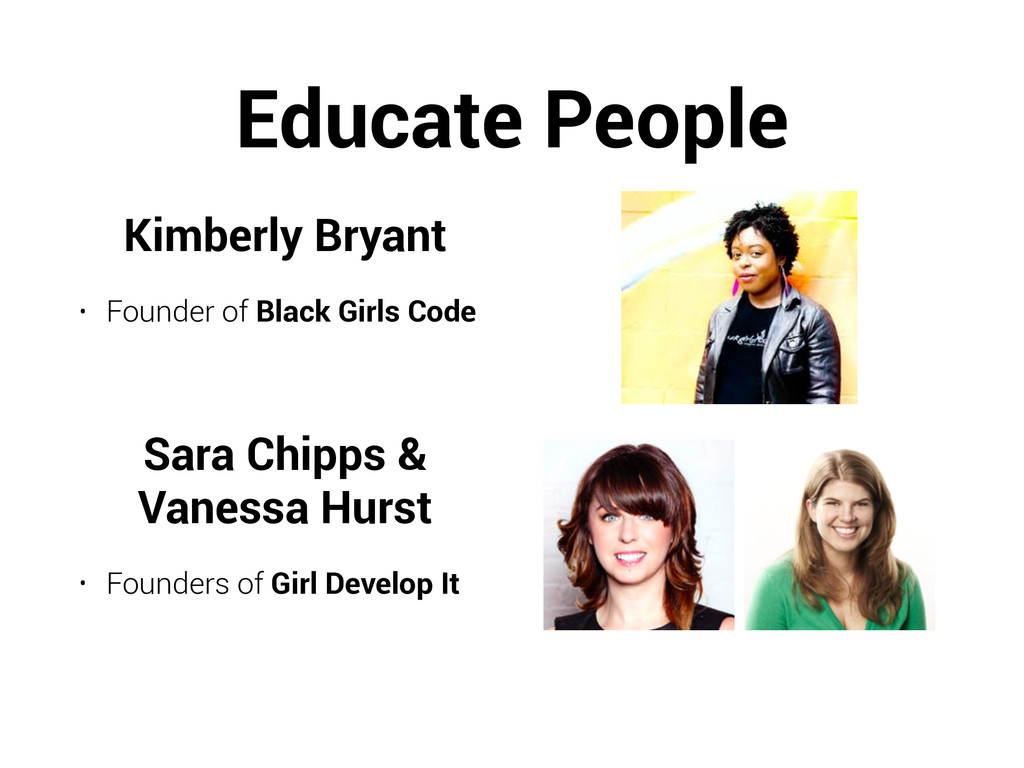Educate People Kimberly Bryant • Founder of Bla...