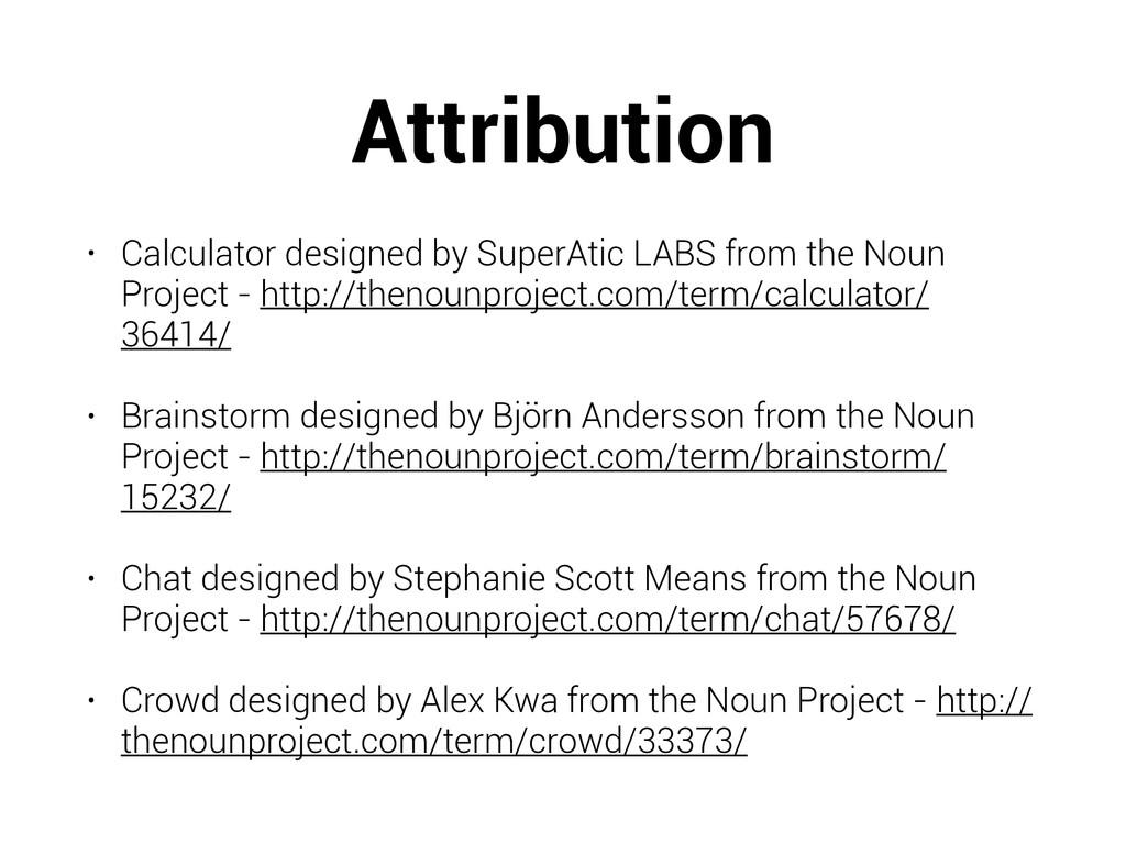 Attribution • Calculator designed by SuperAtic ...