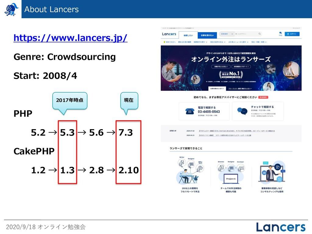 2020/9/18 オンライン勉強会 About Lancers https://www.la...