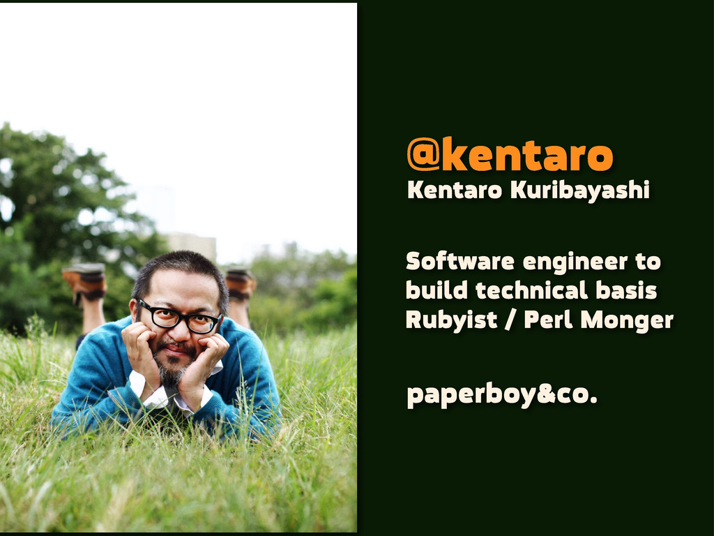 @kentaro Software engineer to build technical b...