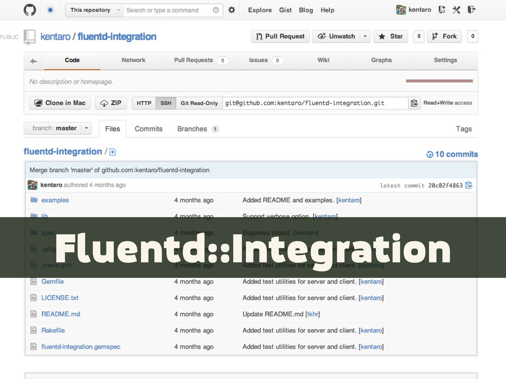 Fluentd::Integration