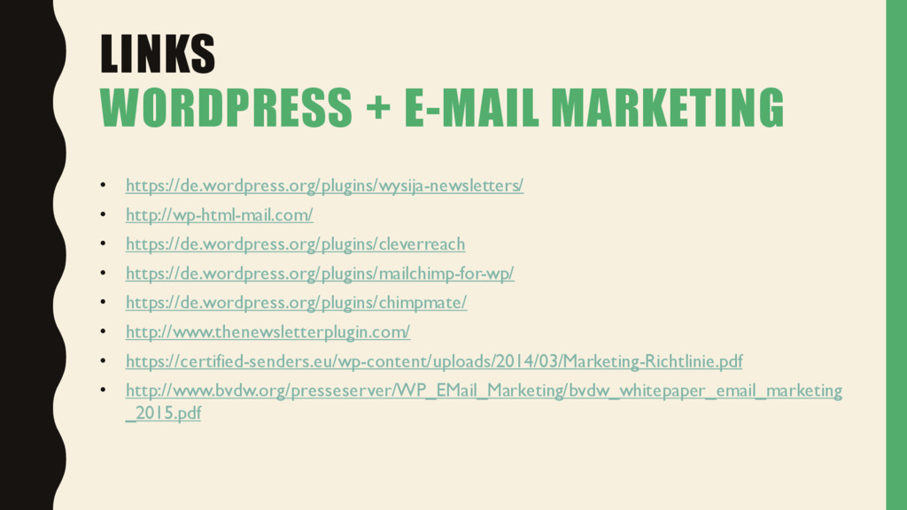 LINKS WORDPRESS + E-MAIL MARKETING • https://de...