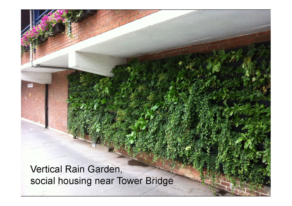 Vertical Rain Garden, social housing near Tower...